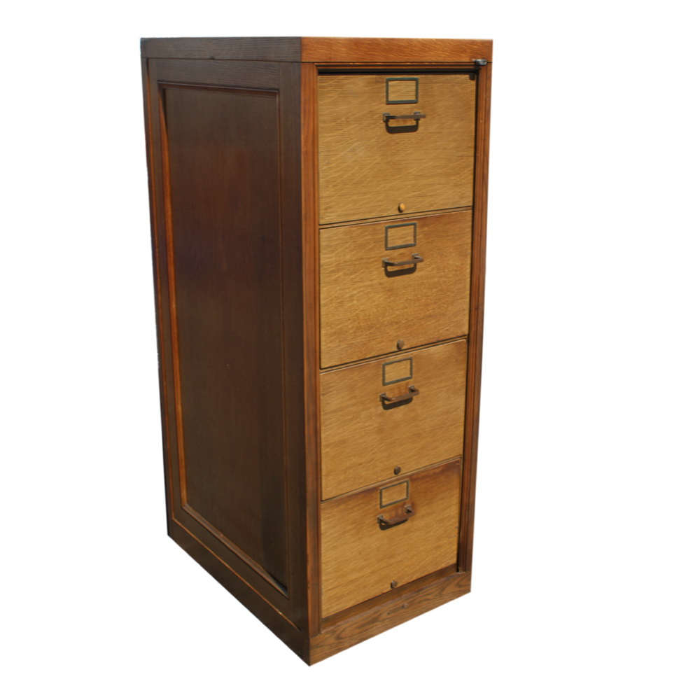 age wood filing cabinet 4 pull out file drawers label spaces 21