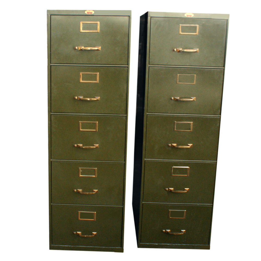 1 18 X28 Vintage 5 Drawer File Metal Cabinet EBay