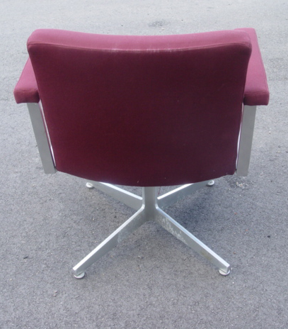 Vintage GF fice Furniture Aluminum Chairs Burgundy
