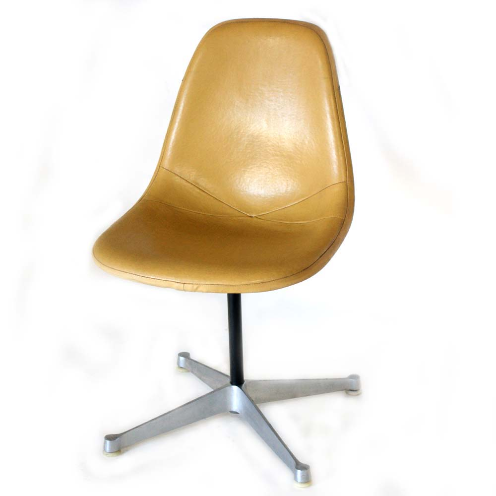 Herman Miller Eames Yellow Vinyl Shell Side Chair EBay