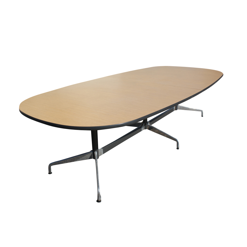 10ft vintage oak herman miller eames conference table ebay. Black Bedroom Furniture Sets. Home Design Ideas
