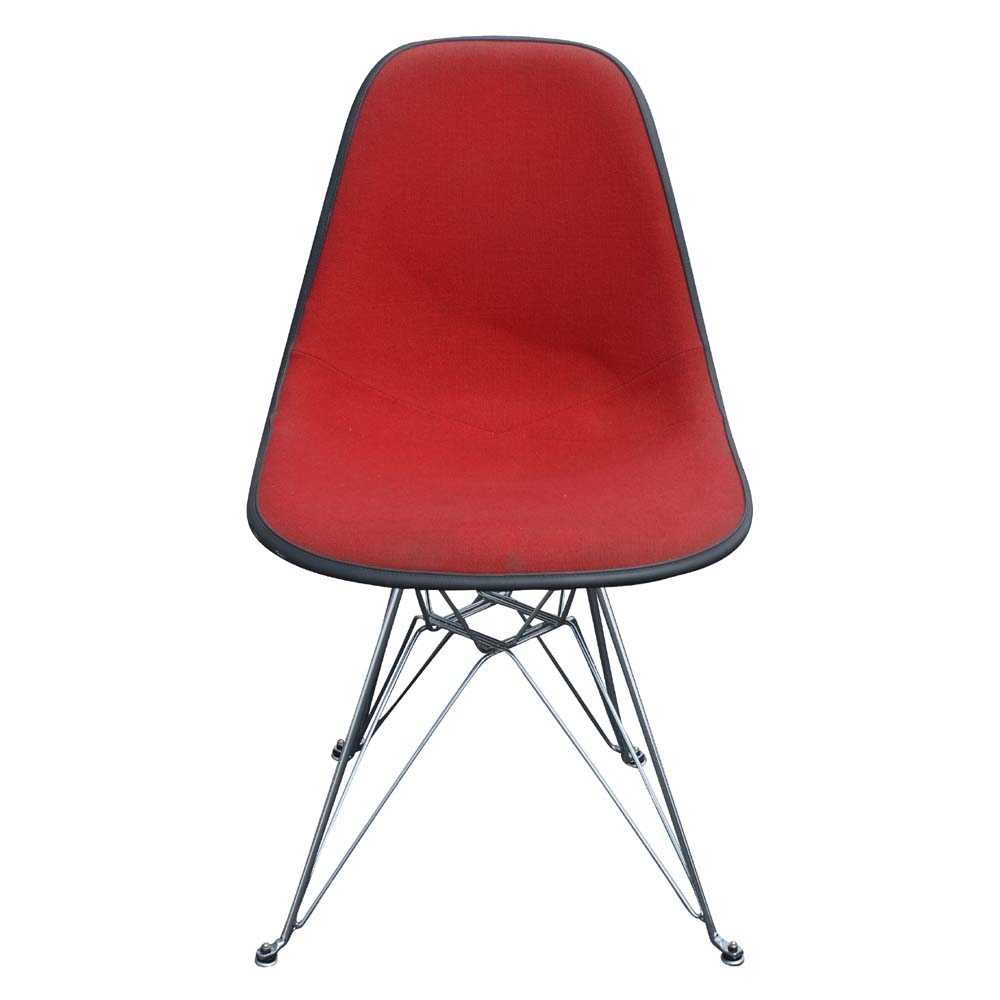 Vintage herman miller eames fabric side shell red ebay - Vintage herman miller ...