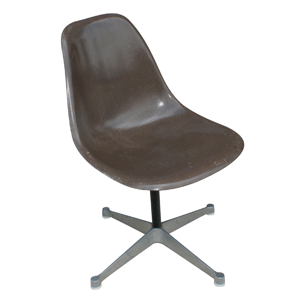 herman miller eames fiberglass side shell chair brown ebay. Black Bedroom Furniture Sets. Home Design Ideas