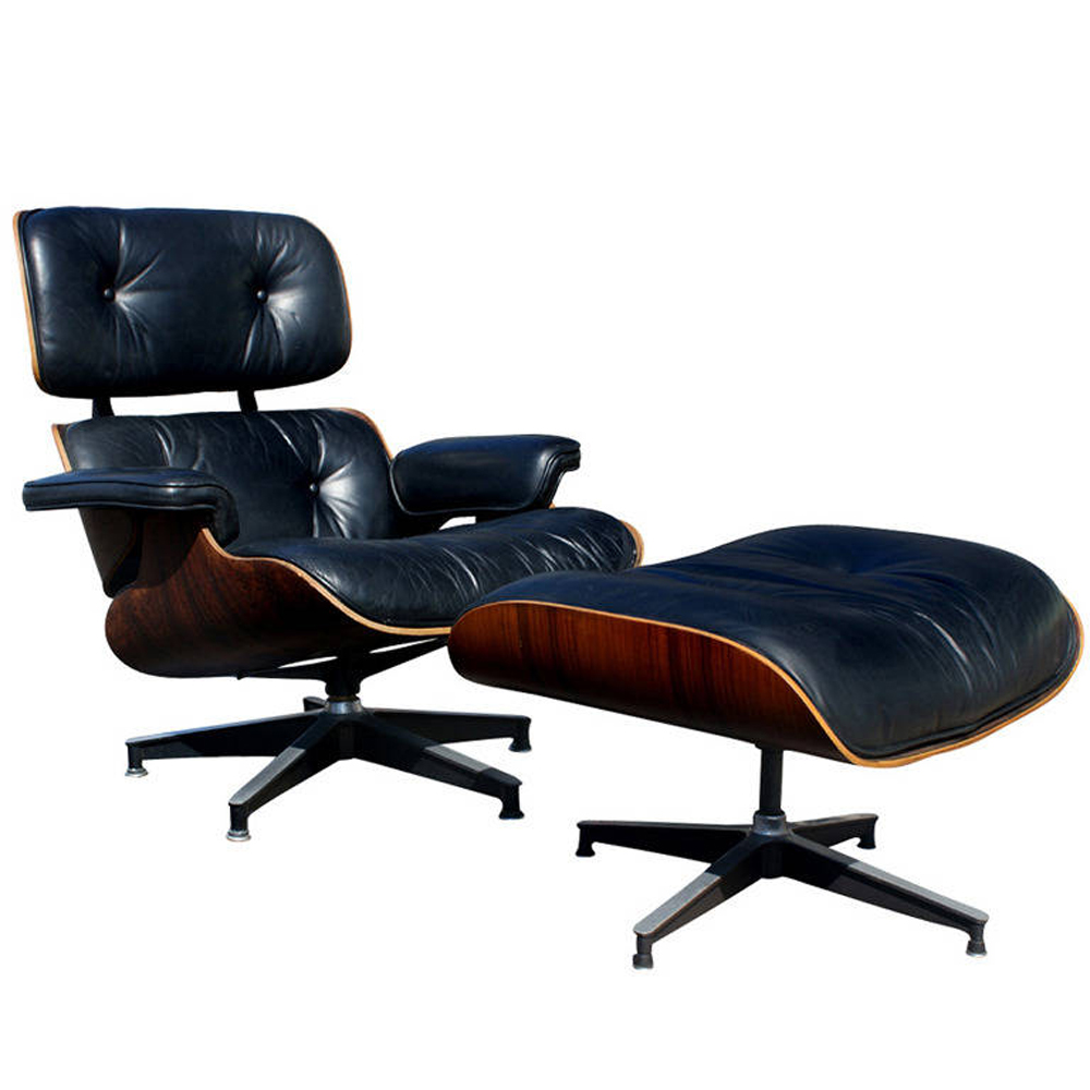 Midcentury retro style modern architectural vintage - Herman miller lounge chair and ottoman ...