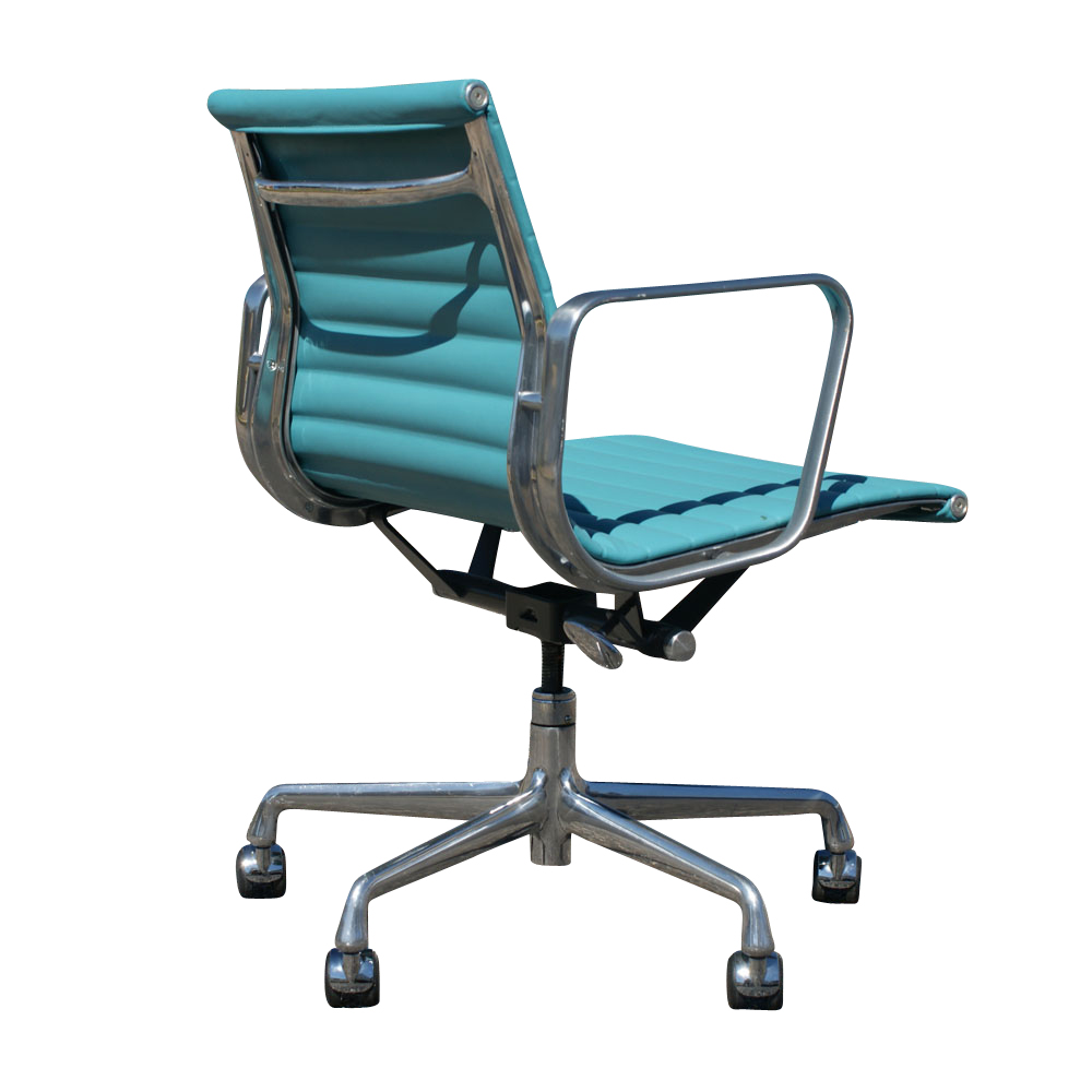 1 herman miller aluminum group management chair teal ebay for Herman miller eames aluminum group management chair