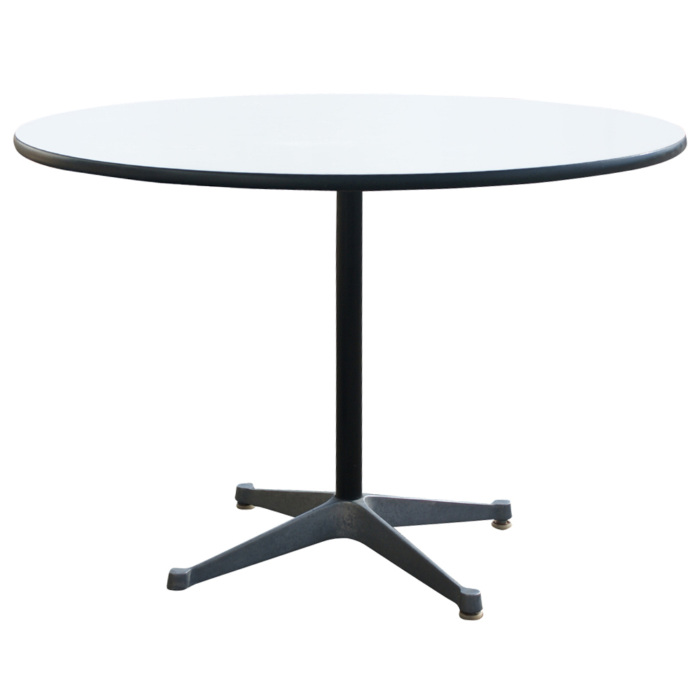 42 round herman miller eames dining table ebay. Black Bedroom Furniture Sets. Home Design Ideas