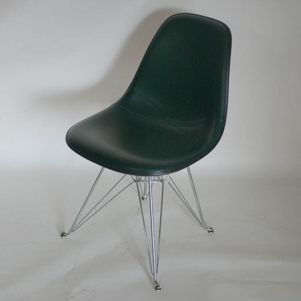 herman miller eames black upholstered side shell chair ebay. Black Bedroom Furniture Sets. Home Design Ideas
