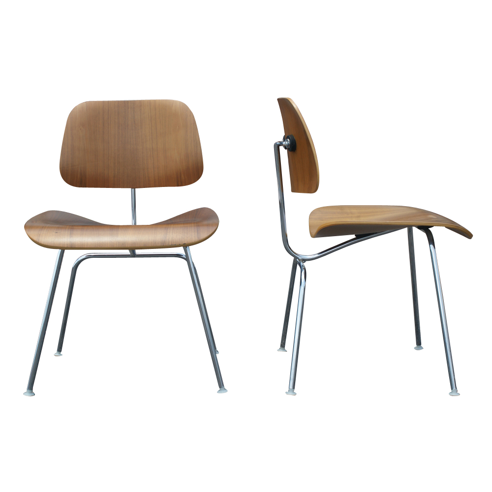 2 dcm herman miller eames style plywood chairs price for Eames chair prix