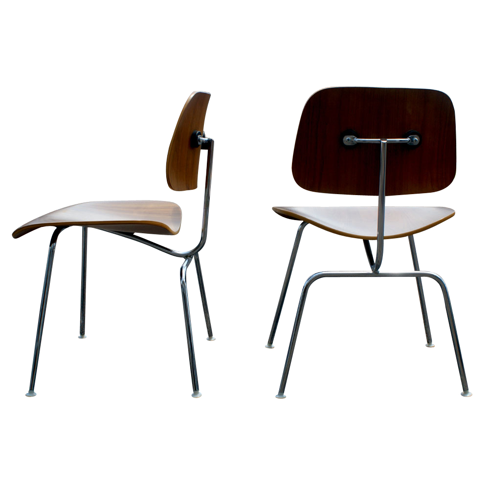 2 DCM Herman Miller Eames Style Plywood Chairs PRICE REDUCED EBay