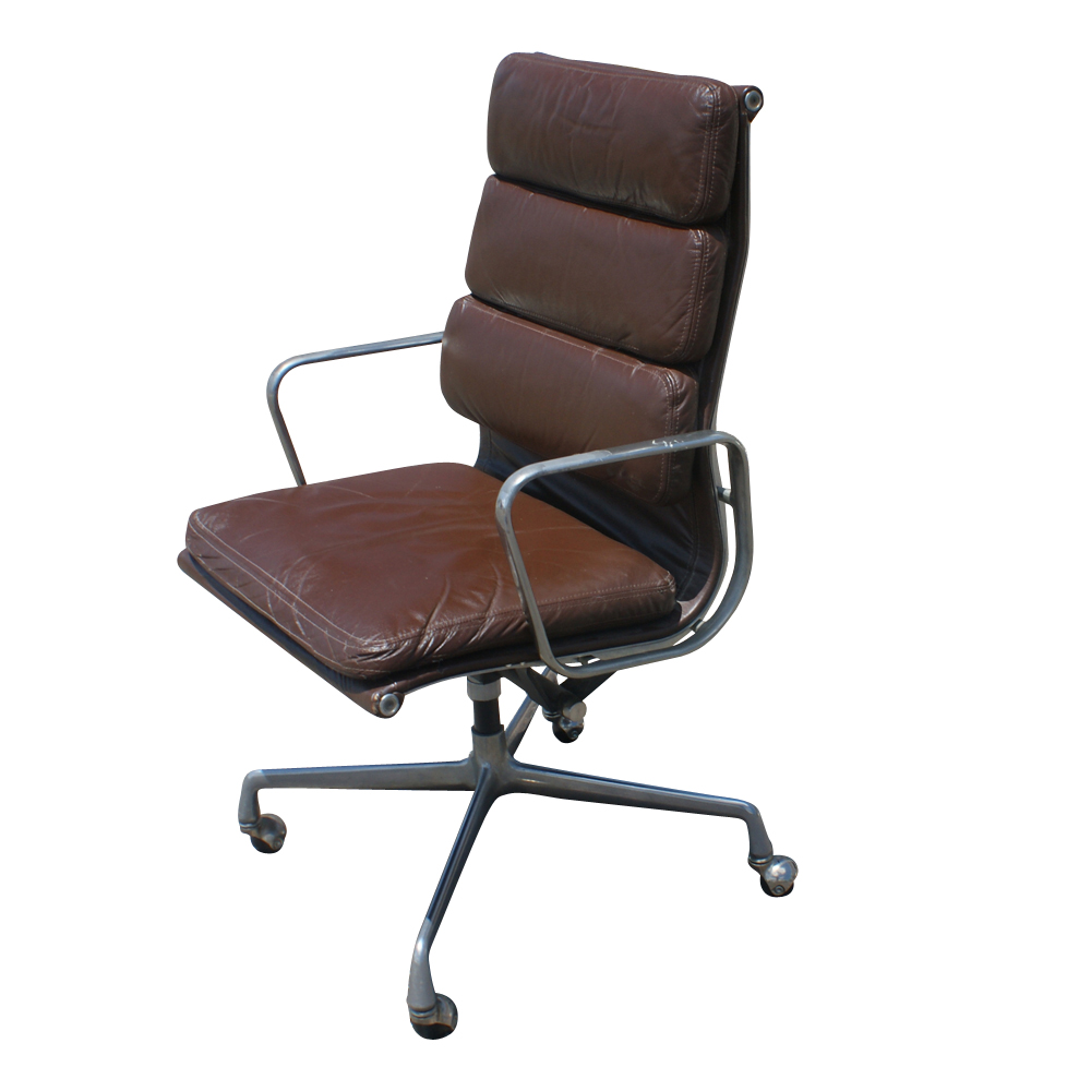 herman miller eames aluminum group leather desk chair ebay. Black Bedroom Furniture Sets. Home Design Ideas