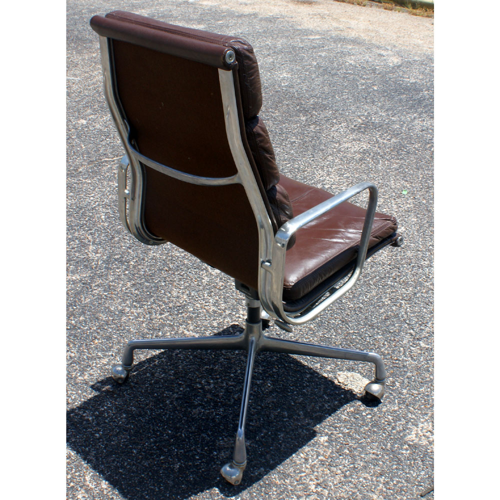 details about herman miller eames aluminum group leather desk chair