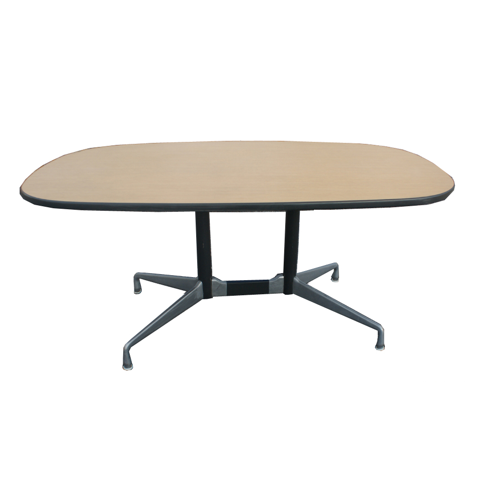 5 1 2 ft herman miller eames racetrack dining table ebay. Black Bedroom Furniture Sets. Home Design Ideas
