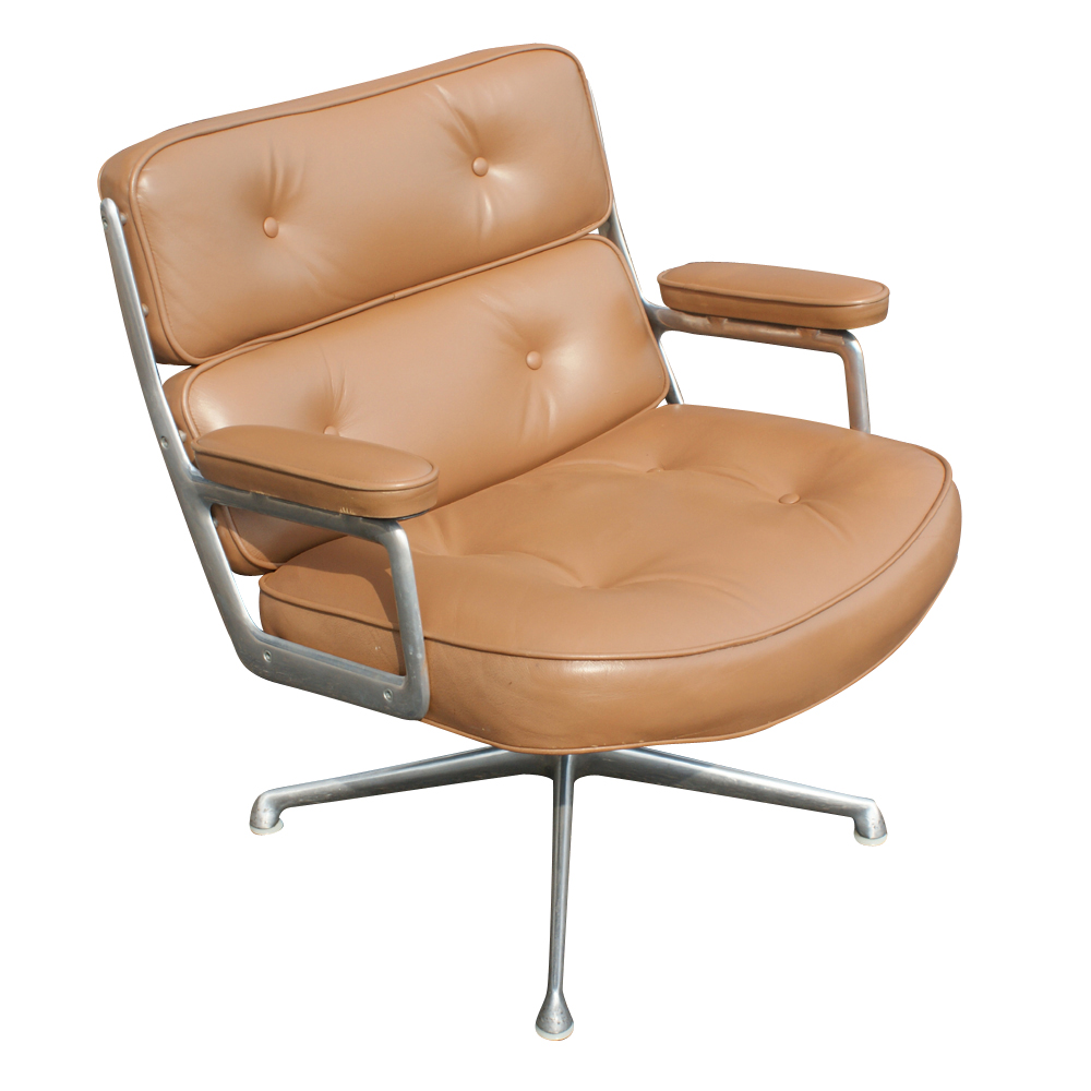 herman miller time life lounge leather chair ottoman ebay. Black Bedroom Furniture Sets. Home Design Ideas