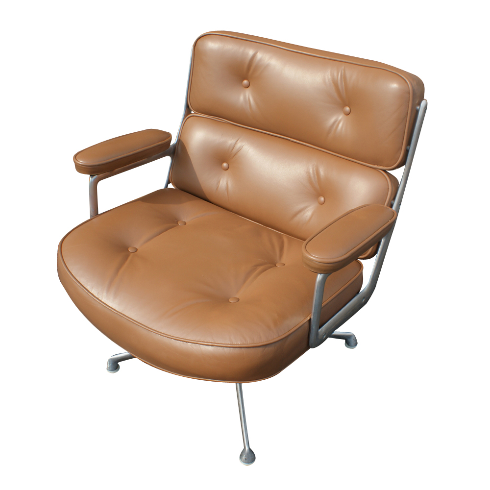 herman miller time life lounge leather chair ottoman. Black Bedroom Furniture Sets. Home Design Ideas