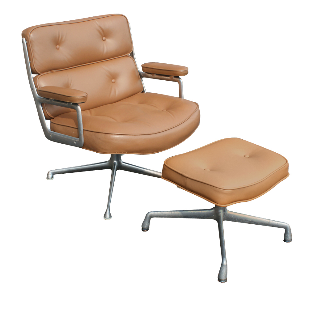 Herman miller time life lounge leather chair ottoman ebay - Herman miller lounge chair and ottoman ...