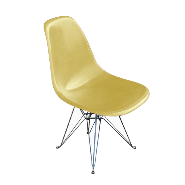 herman miller eames fiberglass side shell chair yellow ebay. Black Bedroom Furniture Sets. Home Design Ideas