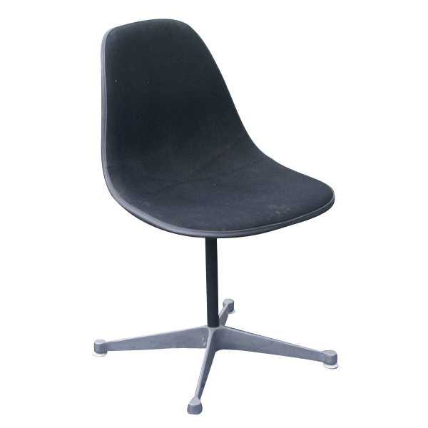 herman miller eames black fabric side shell chair ebay. Black Bedroom Furniture Sets. Home Design Ideas