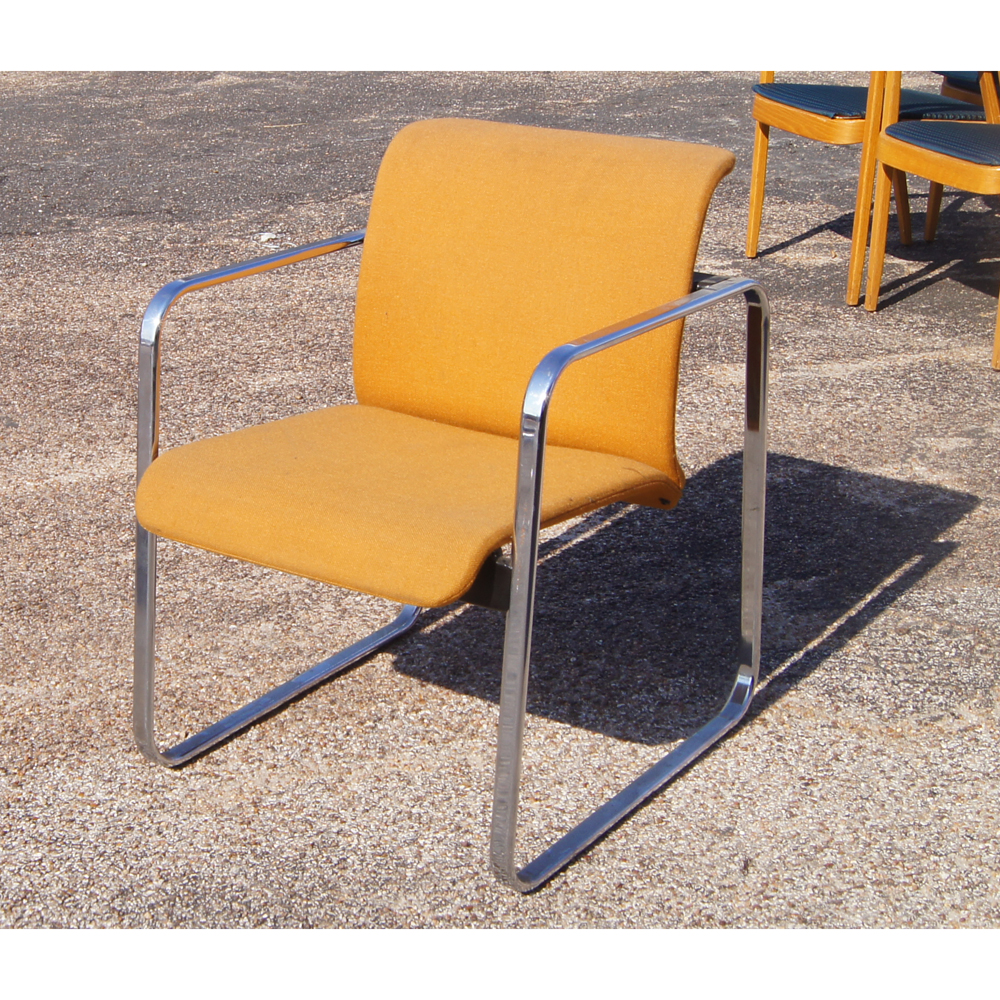 Herman Miller Protzman Tubular Chrome Low Back Armchair | eBay