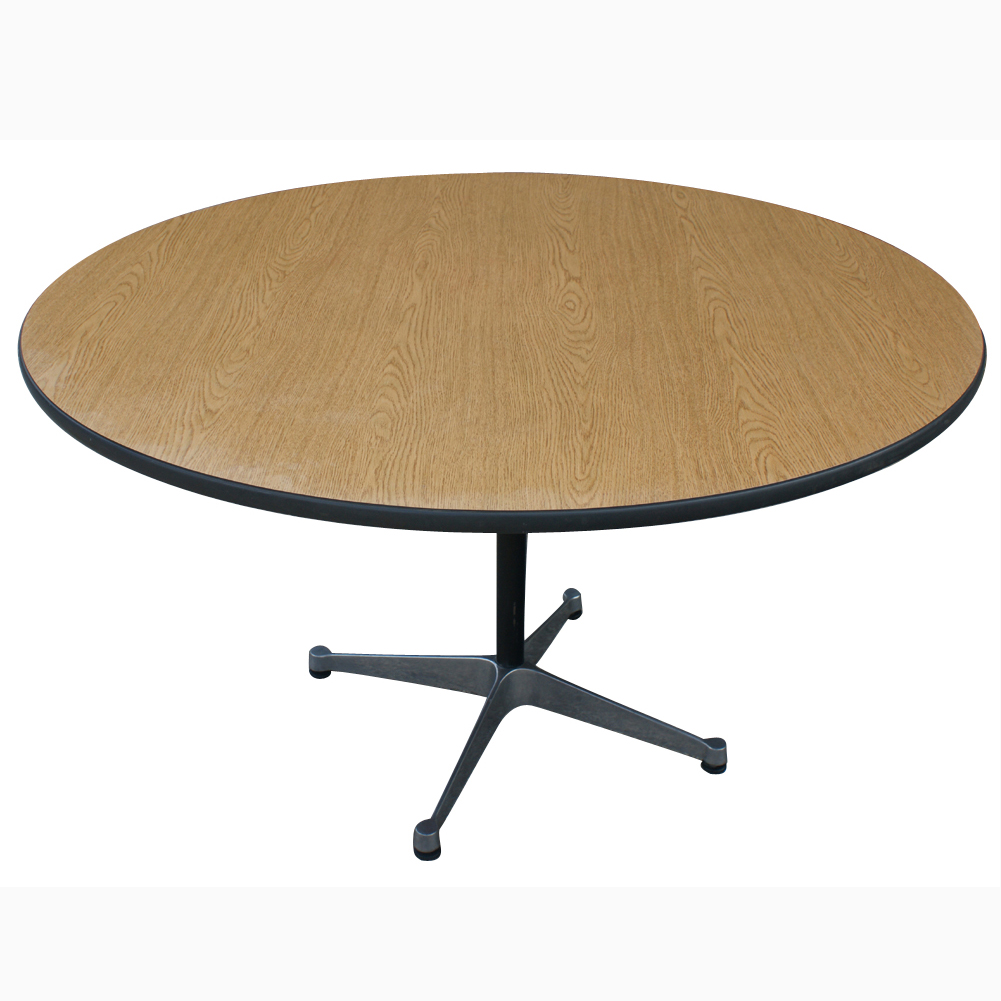 metro retro furniture 4ft round herman miller eames dining table. Black Bedroom Furniture Sets. Home Design Ideas