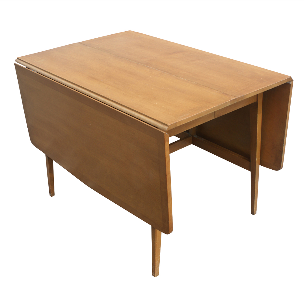 Midcentury retro style modern architectural vintage for Dining table with two leaves