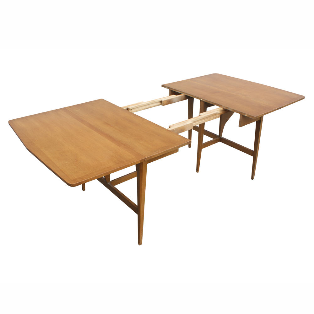 7ft heywood wakefield drop leaf extension dining table for Extension dining table