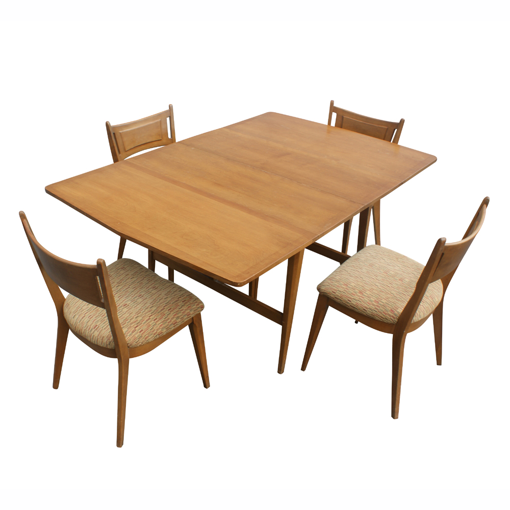 7ft heywood wakefield drop leaf extension dining table ebay for Drop leaf dining table