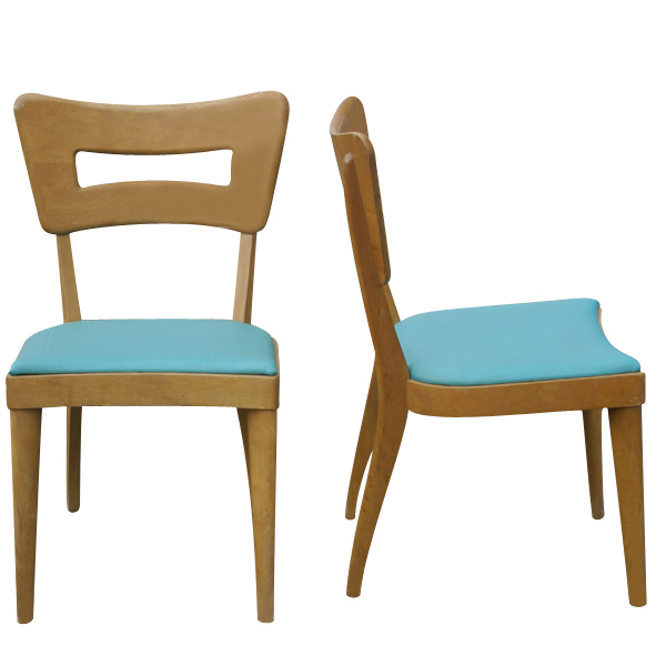 2 Heywood Wakefield Side Dogbone Dining Chairs M154A 20%