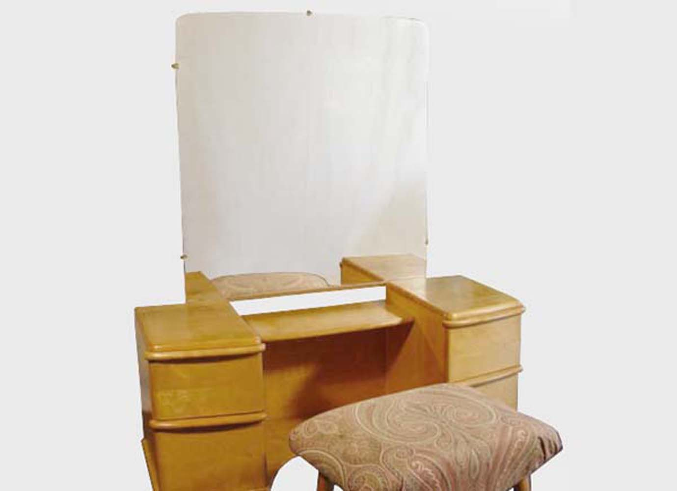 heywood wakefield the miami bedroom group vanity stool set 1941 1942