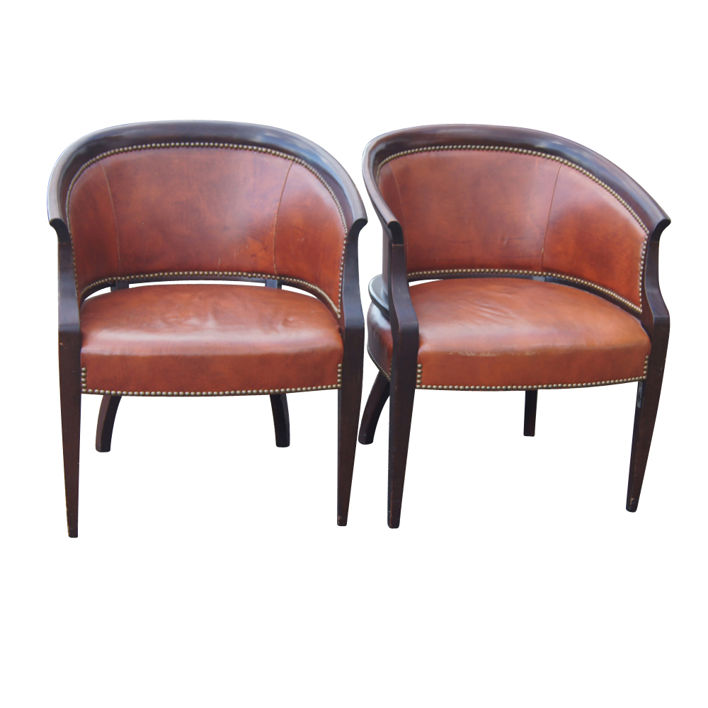 2 Hickory James River Tub Accent Arm Chairs Ebay