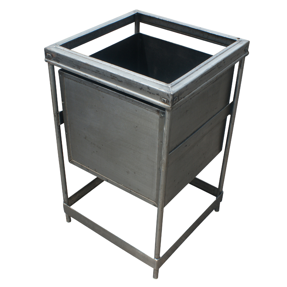 (1) Vintage Industrial Metal Bin Storage Container