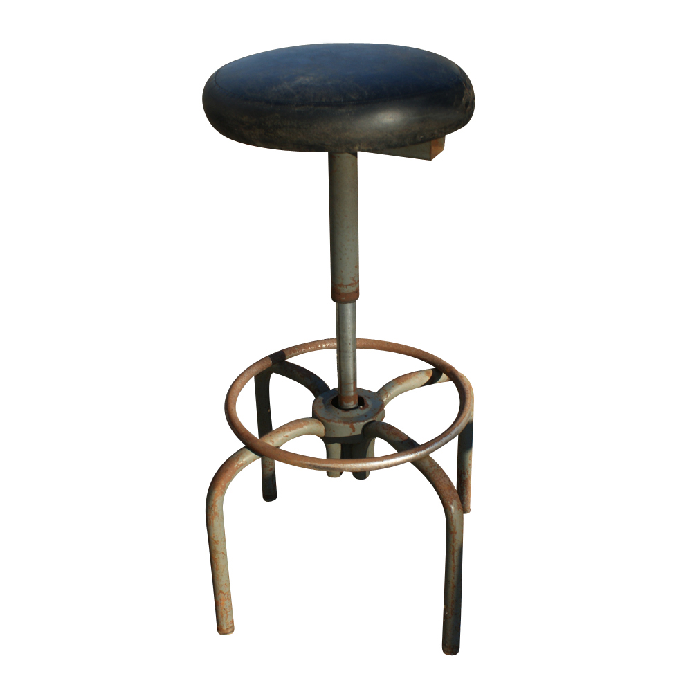 Vintage Metal Stools Transexual You Porn