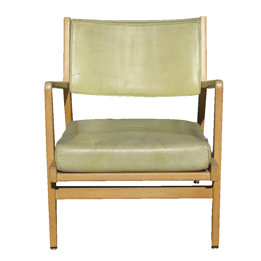Metro Retro Furniture Vintage Jens Risom Wood Lounge Arm Chair