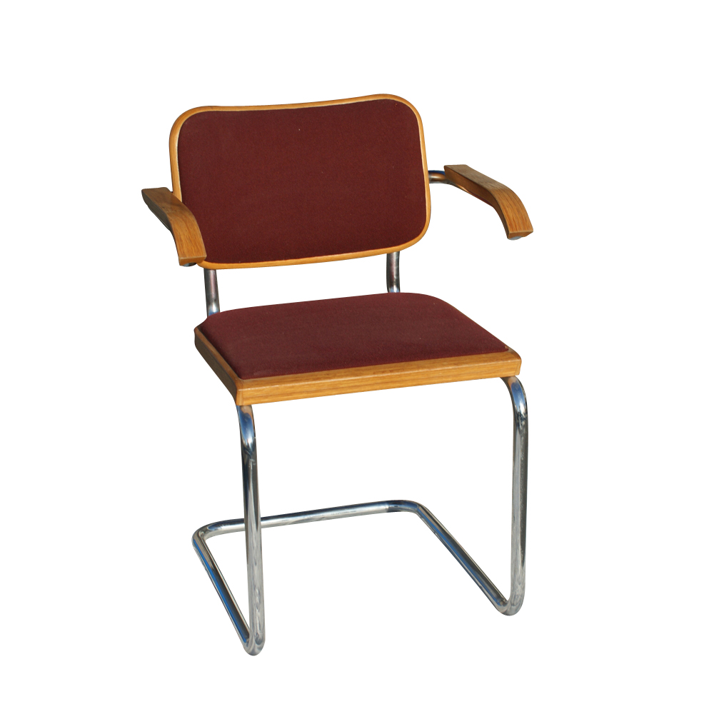 knoll marcel breuer cesca side chair burgundy ebay. Black Bedroom Furniture Sets. Home Design Ideas