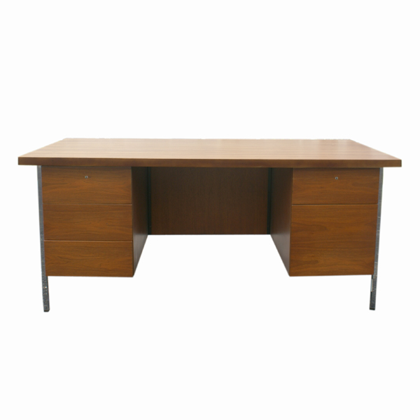 Contemporary executive office furniture - Details About Mid Century Modern Florence Knoll Wood Desk