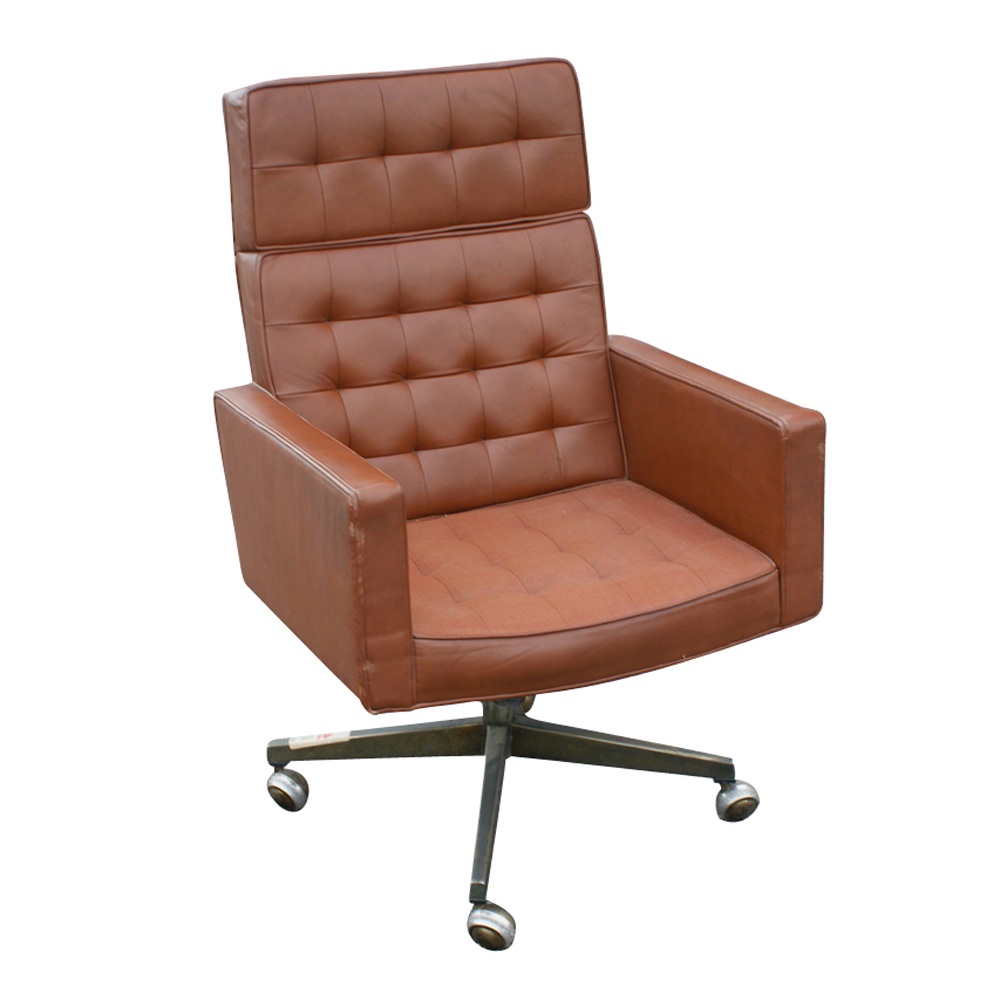 Knoll Vincent Cafiero Leather Executive Chair High Back EBay