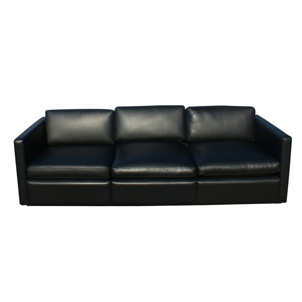 midcentury retro style modern architectural vintage ForBlack Leather Sofa