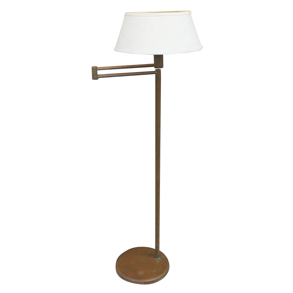 swing arm floor lamp nessen u s a circa 1950 s swing arm floor lamp. Black Bedroom Furniture Sets. Home Design Ideas