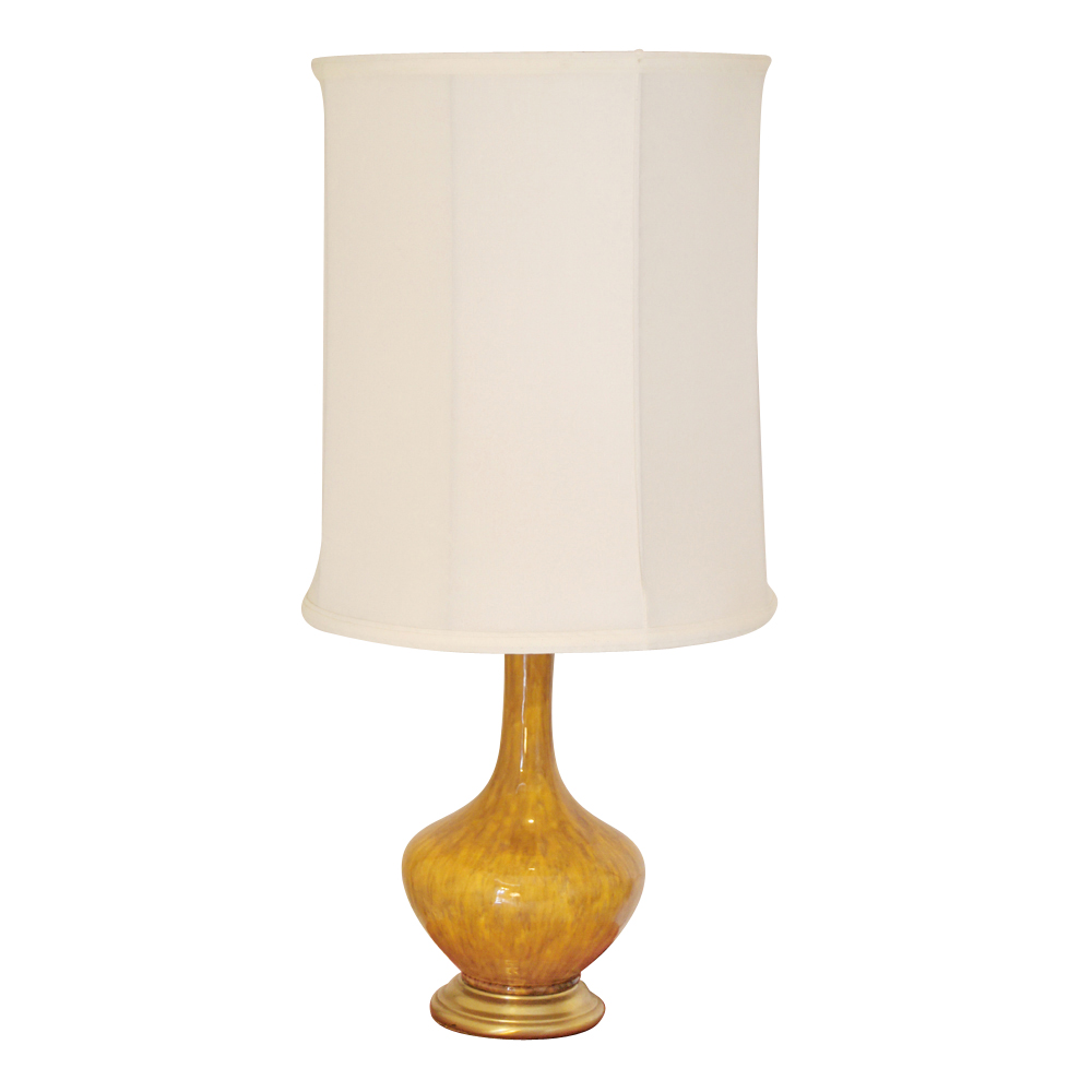 Vintage Mustard Yellow Ceramic Table Lamp Price REDUCED