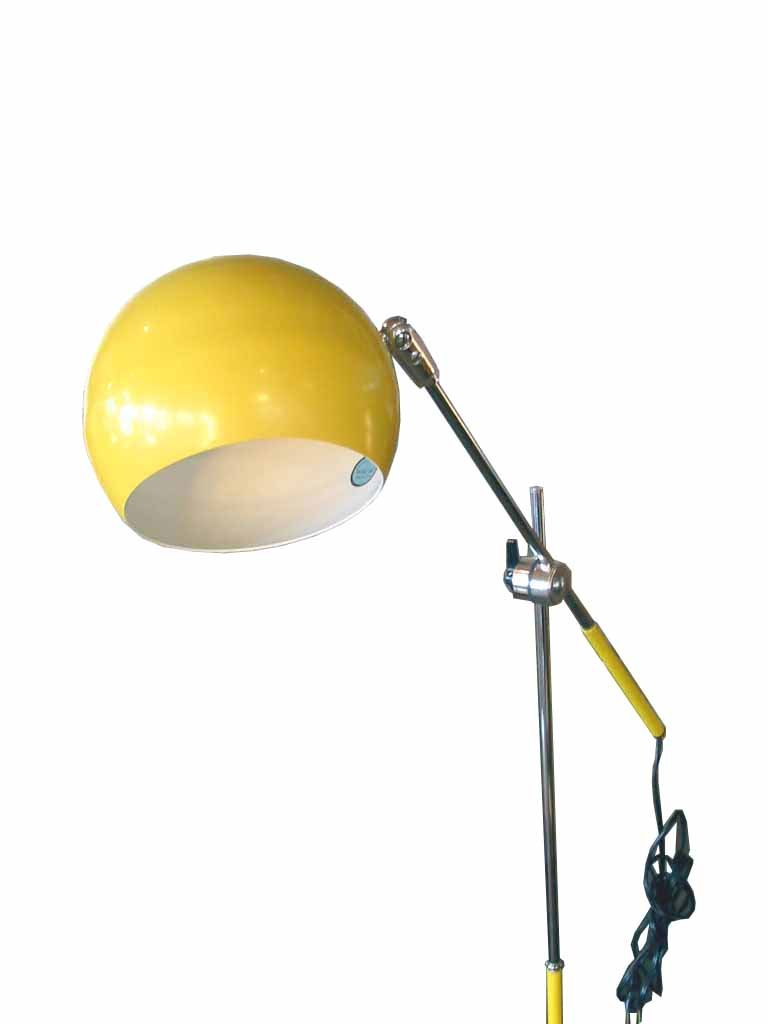 Retro Floor Lamps on Vintage Retro Modern Yellow Floor Lamp  Metro Reto Furniture   Mid