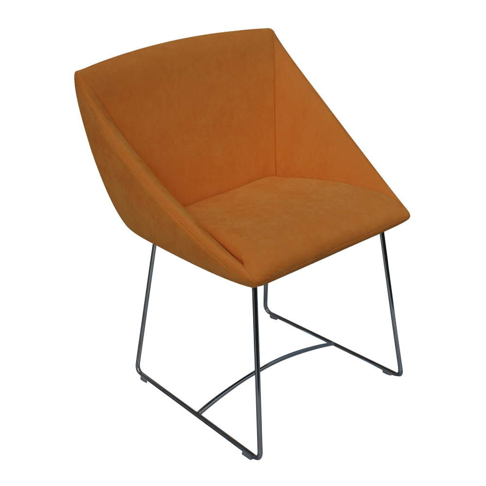 metro retro furniture 1 new ligne roset papillon side arm chair orange. Black Bedroom Furniture Sets. Home Design Ideas