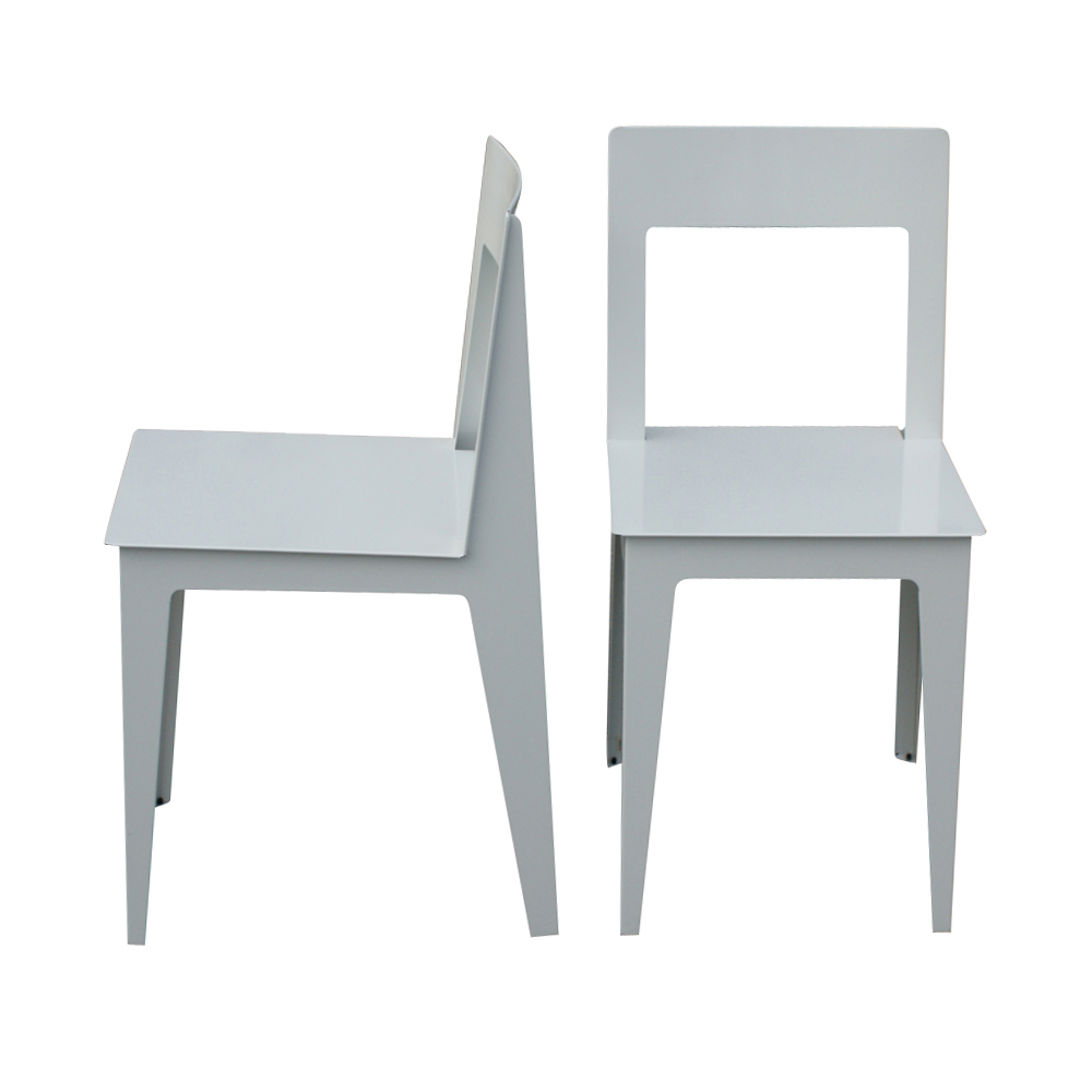 2 Ligne Roset La Pilee Dining Chairs White Lacquer
