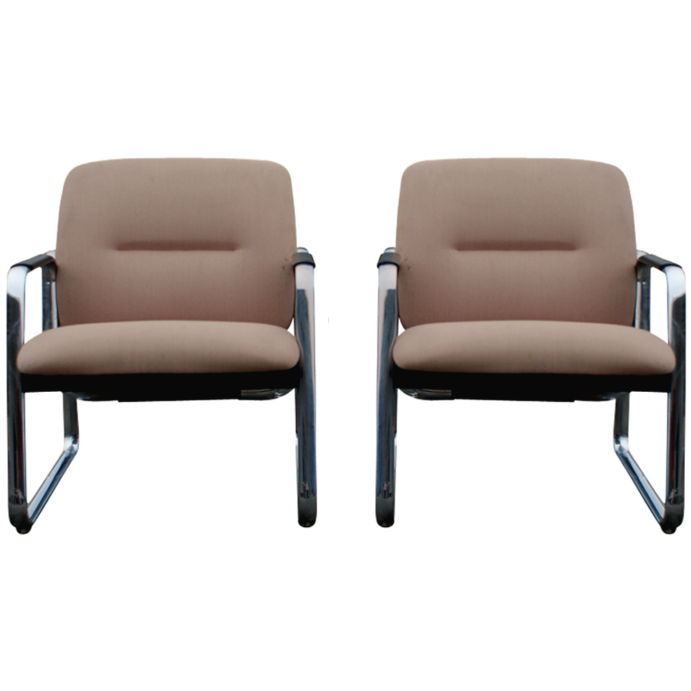 2 mid century steelcase lounge chairs ebay for Furniture companies