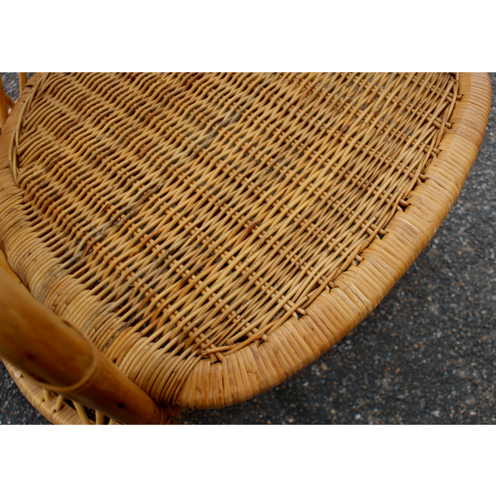 1960`s Italian Woven Wicker and Rattan Canopy Chair Italy Unusual Italian wicker and rattan hooded canopy chair  sc 1 st  Welcome to Metro Retro & Welcome to Metro Retro