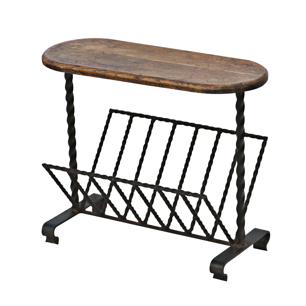 wrought iron magazine rack side table ebay