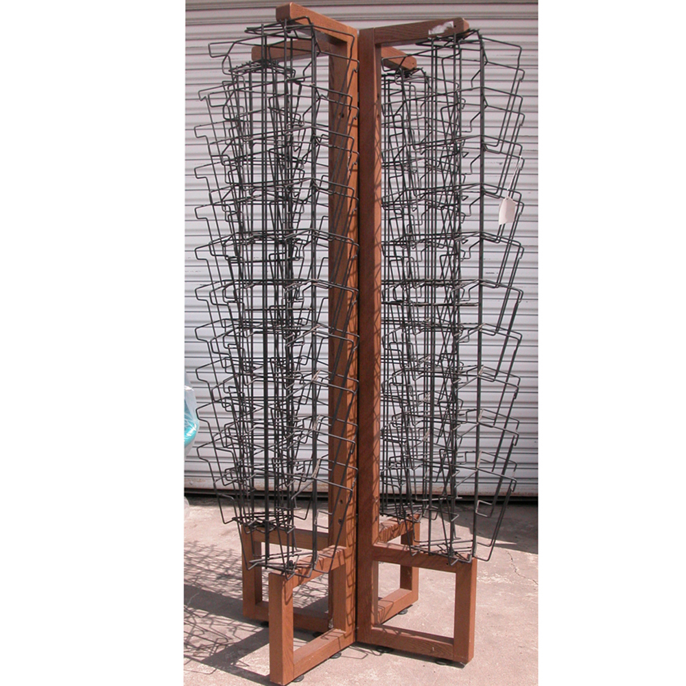 large hundreds magazine store rack stand modern midcentury rotating from display wrought papers slots pl four style furniture a architectural of cgi vintage with bin capable holding wood iron racks retro