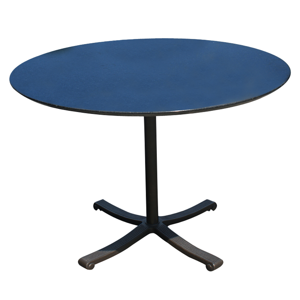 "Granite Round Dining Table: 42"" Round Black Granite Top And Brass Base Dining Table"