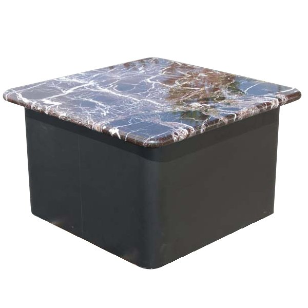 """Marble Coffee Table Ebay: 30"""" Square Vintage Marble Pedestal Side Coffee Table"""