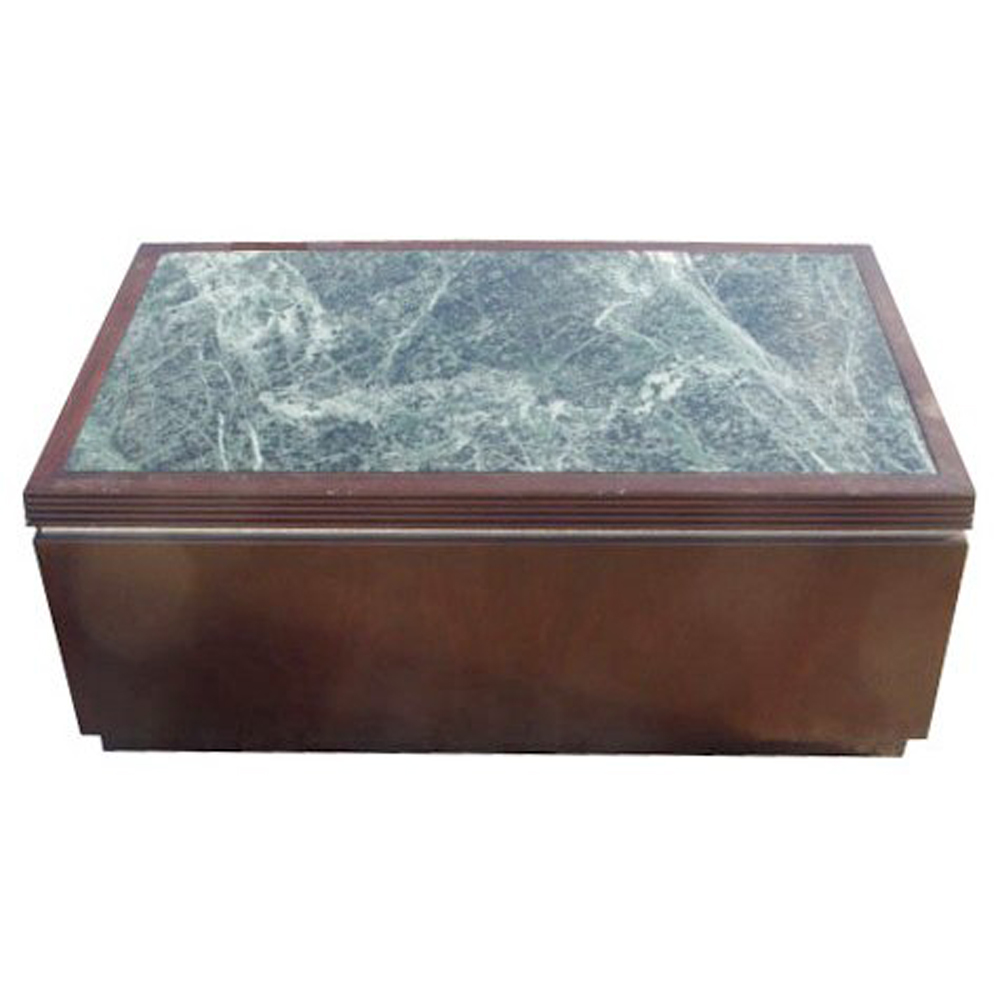 40 x24 rectangular wood marble pedestal coffee table for Coffee table 40 x 24