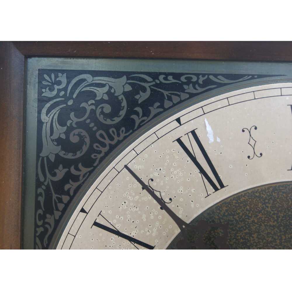 Metro Retro Furniture Vintage Square Clock With Two Weights
