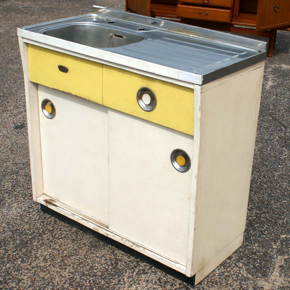 Vintage original elizabeth ann kitchen sink unit ebay for Vintage kitchen units uk